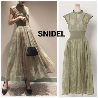 snidel - SNIDEL スィッチングレースドレス ミント MNT