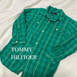 トミーヒルフィガー(TOMMY HILFIGER)のトミーヒルフィガー キッズ 120 チェックシャツ トップス シャツ(ブラウス)