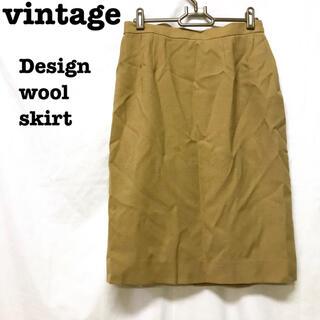 ロキエ(Lochie)の美品【 vintage 】 レトロスカート ウールスカート タイトスカート(ひざ丈スカート)
