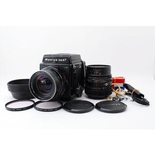 マミヤ(USTMamiya)のMamiya RB67 ProS +レンズ2本 65㎜+140㎜【動作確認済】(フィルムカメラ)