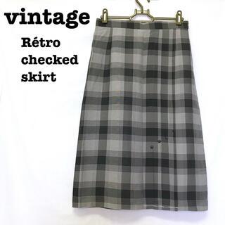 ロキエ(Lochie)の美品【 vintage 】 チェック柄スカート チェックスカート レトロスカート(ロングスカート)