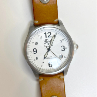 IL BISONTE - 美品 イルビゾンテ 腕時計(フェイス・文字盤のみ)ホワイト シルバー