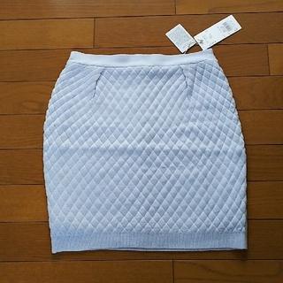 ダズリン(dazzlin)の新品! dazzlin  ダズリン キルティング ニットスカート ブルー(ミニスカート)