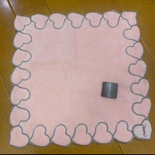 Saint Laurent - イヴサンローラン イブサンローラン サンローラン ハンカチ ハート ピンク 刺繍