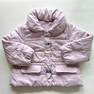 プティマイン(petit main)の美品 プティマイン 中綿 リボン ジャケット キルト アウター コート ダウン(ジャケット/上着)