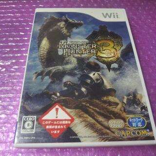 ウィー(Wii)のWii モンハン3 TRI ⇒送料無料(家庭用ゲームソフト)