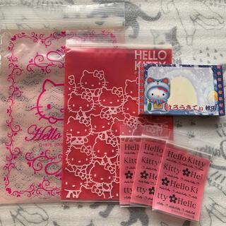 ハローキティ(ハローキティ)のハローキティ 秋田限定のメモ帳とジップ付き袋のセット(ノート/メモ帳/ふせん)