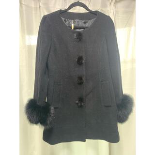 snidel - 【美品】SNIDEL スナイデル ノーカラーコート ブラック モテファッション