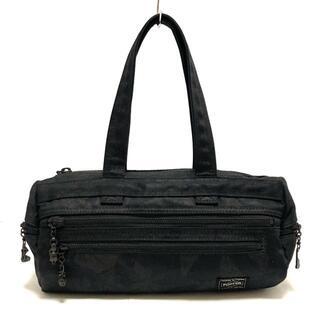 ポーター(PORTER)のポーター ハンドバッグ - 黒 コットン(ハンドバッグ)