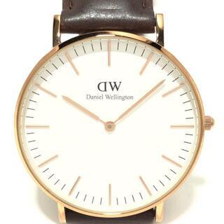 ダニエルウェリントン(Daniel Wellington)のダニエルウェリントン 腕時計 - メンズ 白(その他)