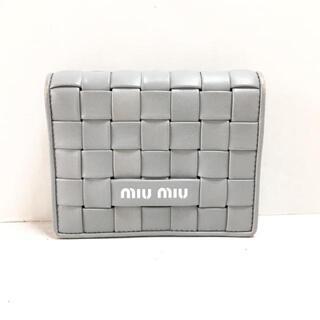 miumiu - ミュウミュウ 2つ折り財布 - 5MV204 グレー