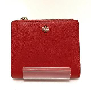 トリーバーチ(Tory Burch)のトリーバーチ 2つ折り財布 - レッド レザー(財布)