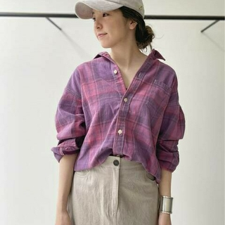 L'Appartement DEUXIEME CLASSE - REMI RELIEF/レミレリーフ Check Shirt ピンク