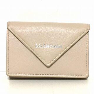 バレンシアガ(Balenciaga)のバレンシアガ 3つ折り財布 391446 ベージュ(財布)
