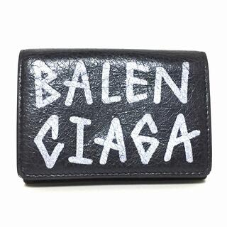バレンシアガ(Balenciaga)のバレンシアガ 3つ折り財布 529553 黒×白(財布)