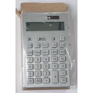 ムジルシリョウヒン(MUJI (無印良品))の無印良品   12桁電卓(大サイズ・シルバー)(オフィス用品一般)