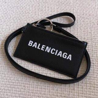 Balenciaga - 極美品 BALENCIAGA バレンシアガ ストラップ付 小銭入れ カードケース