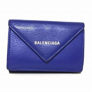 バレンシアガ(Balenciaga)のバレンシアガ 3つ折り財布 391446 ネイビー(財布)