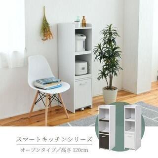 隙間すきま収納 スリムラック 食器棚 ミニキッチン 家電収納 高さ120 幅30(キッチン収納)