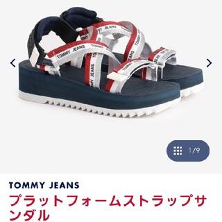 TOMMY HILFIGER - トミージーンズ プラットフォームストラップサンダル スポサン Tommy 美品