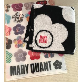 MARY QUANT - マリークヮント ミニタオル  ミニファイル 新品