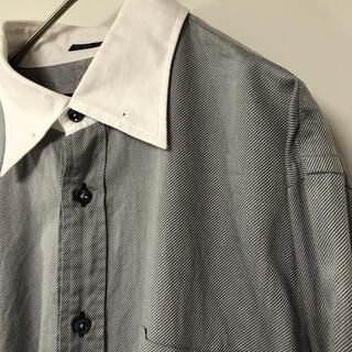 バーバリーブラックレーベル(BURBERRY BLACK LABEL)のバーバリーブラックレーベル 山陽商会 リブカラー切り替えシャツ L(Tシャツ/カットソー(七分/長袖))