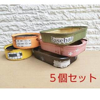 リメイク缶 リメ缶 5個 多肉植物(プランター)