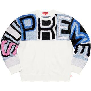 Supreme - 【Mサイズ】Chenille Logo Sweater