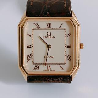 OMEGA - 腕時計 オメガ デビル 革ベルト クォーツ DeVille 1377 OMEGA