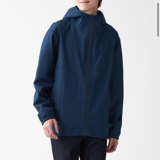 MUJI (無印良品) - 無印良品 透湿 撥水 防水テープ使いフードジャケット M ネイビー