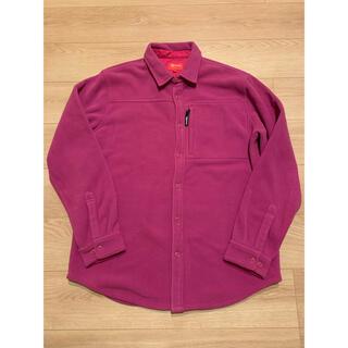Supreme - supreme polartec fleece shirt XL ピンク