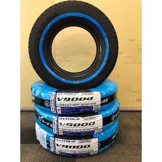 500R12-10PR ホワイトリボン タイヤ 4本セット 送料無料!12インチ(タイヤ)
