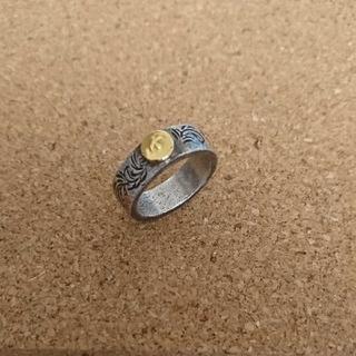 ゴローズ(goro's)のオールドゴローズ 唐草彫リング 金メタル付き・イーグルスタンプ。 18号(リング(指輪))