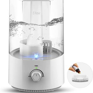超音波式加湿器 アロマ対応 上から給水 3.5L大容量 LEDライト付き
