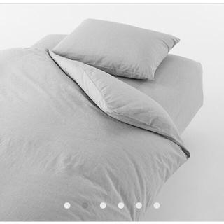 ムジルシリョウヒン(MUJI (無印良品))の新品 洗いざらし かけ布団 カバー シングル 2セット(シーツ/カバー)
