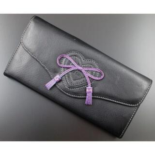 ポールスミス(Paul Smith)の1点限り☆未使用品箱なし ポールスミス ハートデザイン 長財布 黒(財布)