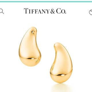 Tiffany & Co. - 【イエローゴールド】Tiffany ティアドロップ☆ピアス
