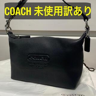 COACH - 【未使用訳あり】coach ハンドバッグ ポーチ ブラック 黒
