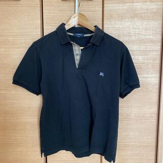バーバリー(BURBERRY)のBurberry メンズ ポロシャツ Mサイズ 黒(ポロシャツ)