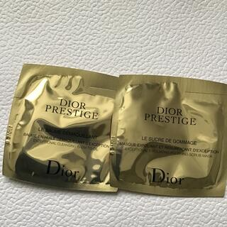ディオール(Dior)のDior サンプル プレステージ バーム デマキヤント& ル ゴマージュ 試供品(クレンジング/メイク落とし)