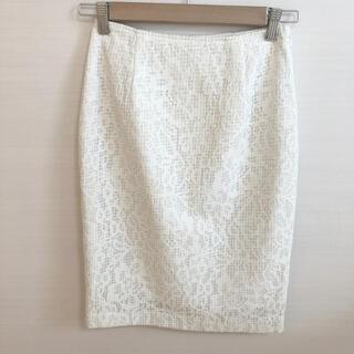 ノエラ(Noela)の♡美品♡ノエラ 花柄刺繍レースタイトスカート(ひざ丈スカート)