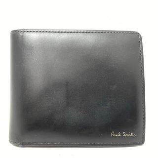 ポールスミス(Paul Smith)のポールスミス 2つ折り財布 - 黒 レザー(財布)