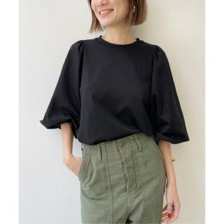 アパルトモンドゥーズィエムクラス(L'Appartement DEUXIEME CLASSE)のGather Long sleeve Tee  ブラック(Tシャツ/カットソー(七分/長袖))