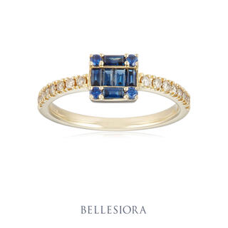 agete - 【16日迄】BELLESIORA♡ブルーサファイア&ダイヤモンド♡K18リング