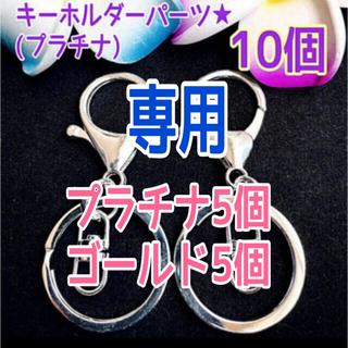 キーホルダーパーツ★プラチナ10個(各種パーツ)
