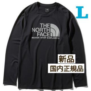THE NORTH FACE - ノースフェイス  ロングスリーブGTDロゴクルー(メンズ)L NT12093 K
