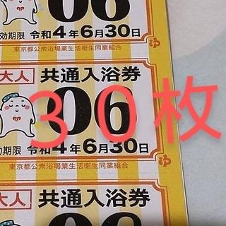 東京都 共通入浴券 大人30枚