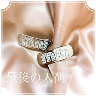 miumiu - 最後の入荷 ラスト 新品未使用 ヘアクリップ  miumiu ヘアピン二つセット