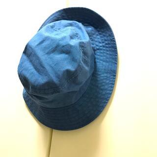 ムジルシリョウヒン(MUJI (無印良品))の無印良品 帽子 インディゴブルー レディース(ハット)