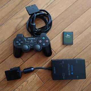 プレイステーション2(PlayStation2)のPS2 マルチタップ コントローラー メモリーカード セット(その他)
